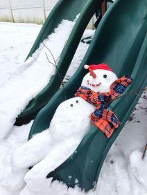 snowman-on-slide