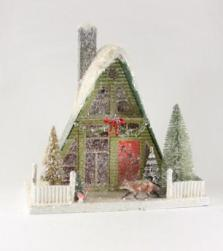 woodland-a-frame-putz-house-with-fox-cody-foster-christmas-HOU-226