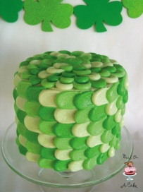 St. Patrick's Day Green Petal Cake 3 final