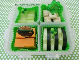St.Patricks Day Go Green bento snack