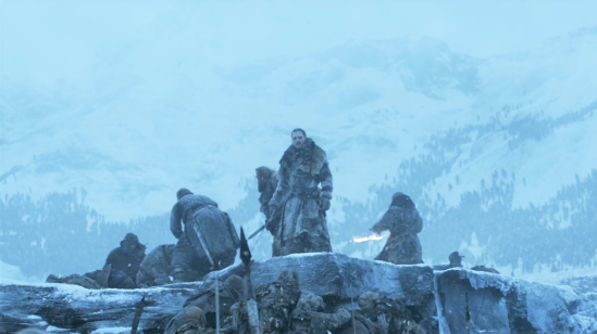 Wall-Beyond-Frozen-Lake-7x06-13-Jon-Beric-Tormund-Sandor-White-Walkers-Wights