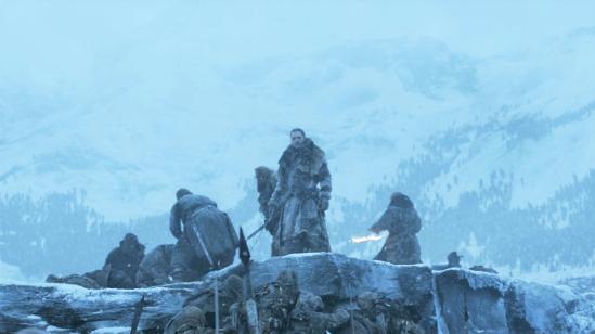 Wall-Beyond-Frozen-Lake-7x06-13-Jon-Beric-Tormund-Sandor-White-Walkers-Wights
