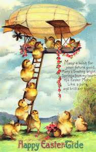 Easter Vintage chicks derrigible