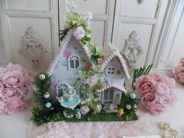 Shabby-Cottage-Easter-Chic-Pink-Rose-Putz
