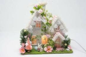 Vintage-Style-Putz-House-Easter-Decorations-Handmade-Lights
