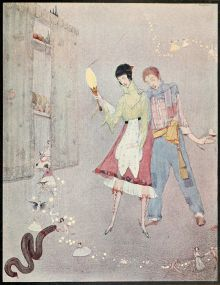 800px-Page_facing_130_illustration_from_Fairy_tales_of_Charles_Perrault_(Clarke,_1922)