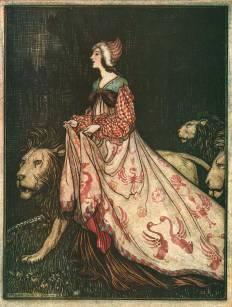 Arthur_Rackham_The_Lady_and_the_Lion