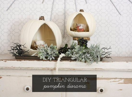 1.DIY-Triangular-Pumpkin-Diorama