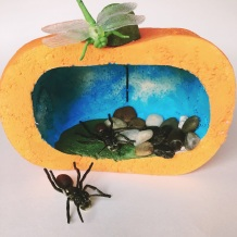 Pumpkin-diorama-with-bugs