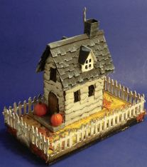 Right-angled-Halloween-Village-Brownstone-paper-house-putz-house