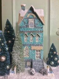 teal-townhouse-putz-house-christmas-houses-with-glitter