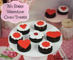 No bake easy oreo valentine treats handmade gifts school friend love heart chocolate